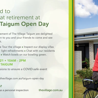 Discover great retirement at The Village Taigum Open Day – Friday 5 March