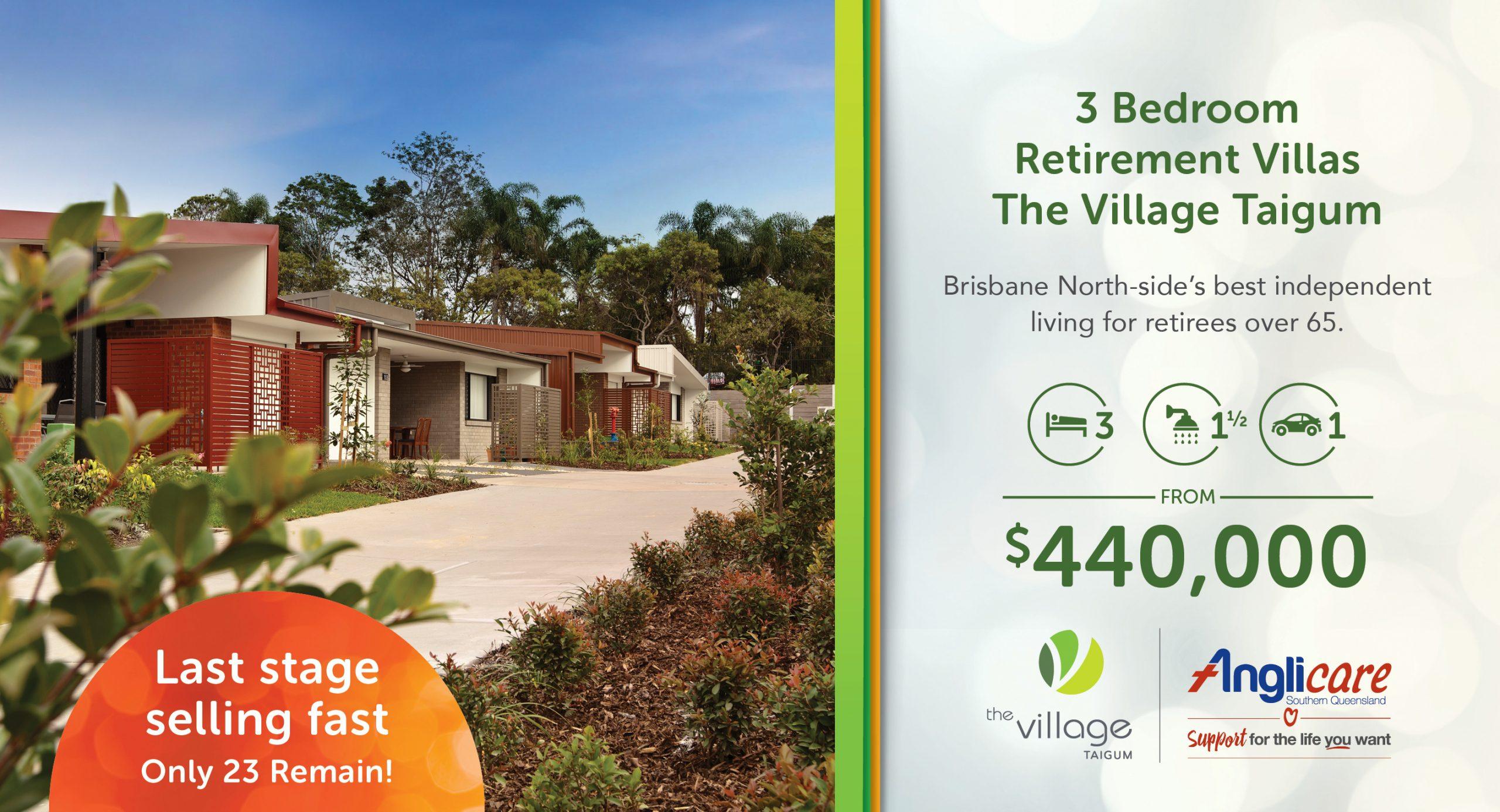 Final Stage Selling Now – Precinct 2 New Villas